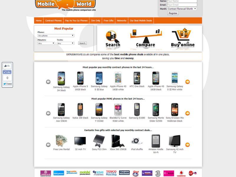 Compare the best mobile phones contract deals Uk Mobile World